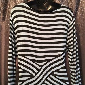 ECI Blue Striped Dress, Size Large